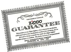 Genuine Zippo Guarantee