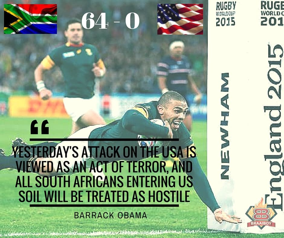 South African Terror Attack on the USA