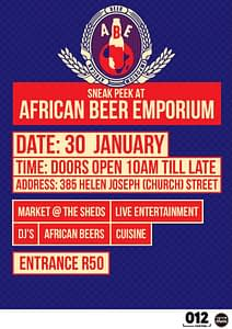 African Beer Emporium Sneak Peek Invite